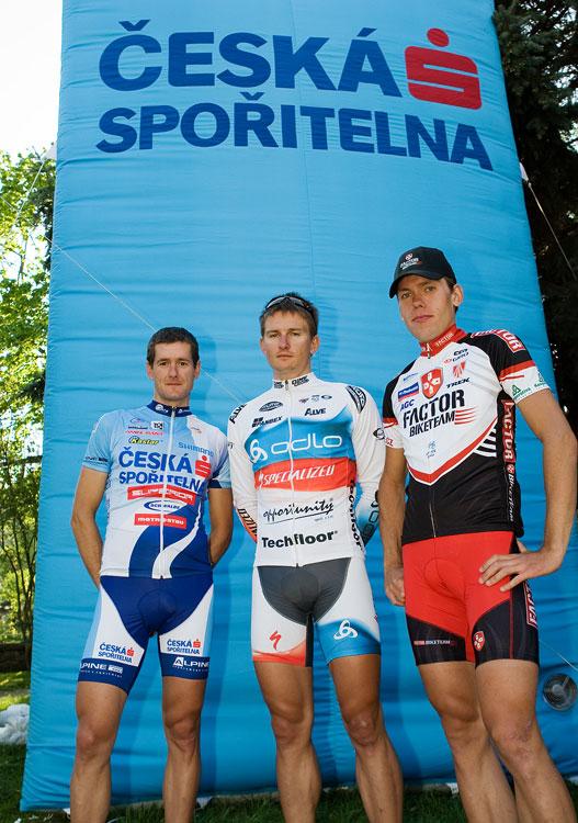 Kolo pro život - Kutná Hora 25.4. 2009, foto: Miloš Lubas, trojlístek nejrychlejších zleva: Trunschka, Boudný a Vokrouhlík