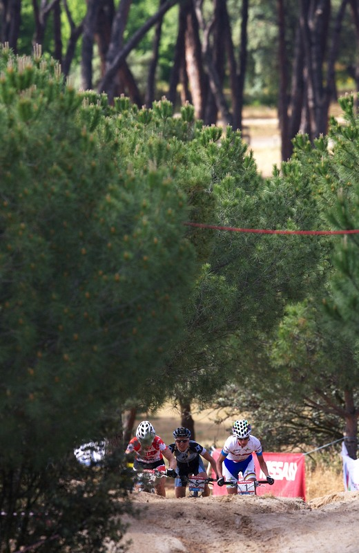 Nissan UCI MTB World Cup XC #4 - Madrid 24.5. 2009 - vítězné trio Fullana - Premont - Byberg