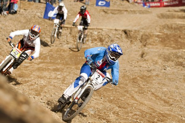 Nissan UCI World Cup 4X & DH Andora - Vallnord 2009: Jana Hor�kov� ve veden� /foto: Gary Perkin/