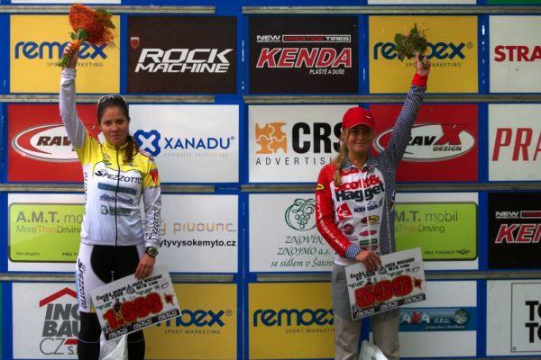 Český pohár Rock Machine XC MTB Cup 2009 - Bystřice pod Hostýnem 16.5. - druhá juniorka Michaela Maláriková a třetí Veronika Jarošová