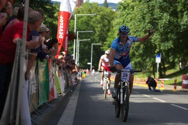 4. závod českého poháru Rockmachine XC Cupu, Teplice 20.6. 2009 - Milan Spěšný vítězí