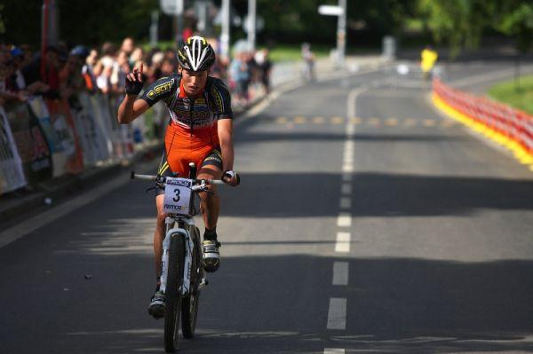 4. závod českého poháru Rockmachine XC Cupu, Teplice 20.6. 2009 - Filip Eberl třetí místo