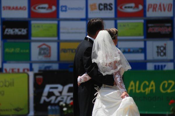 ČP MTB XC #4 2009 - Teplice: svatba mezi cyklisty