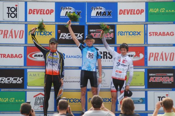 ČP MTB XC #4 2009 - Teplice: junioři - 1. Nesvadba, 2. Daniel Veselý, 3. Pavel Skalický