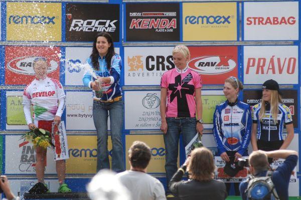 ČP MTB XC #4 2009 - Teplice: ženy - 1. Huříková, 2. Havlíková, 3. Šulcová, 4. Ježková, 4. Veselá