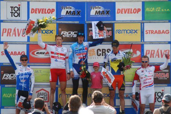 ČP MTB XC #4 2009 - Teplice: 1. Spěšný, 2. Soukup, 3. Eberl, 4. Škarnitzl, 5. Doležal