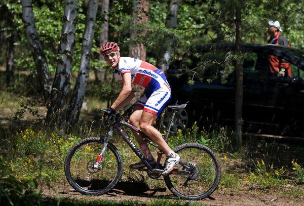 KPŽ Orlík 2009 - Jarda Kulhavý - s úsměvem a 30 sec. náskokem na špici...