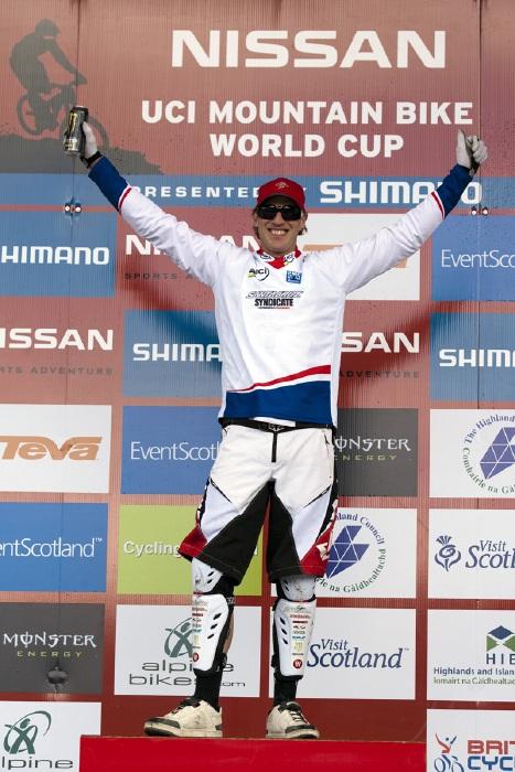 Nissan UCI World Cup DH & 4X #4 - Fort William /GBR/ 2009: Peat lídrem SP DH (photo: Gary Perkin(