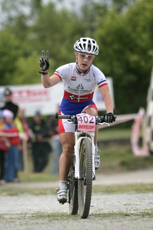 ČP MTB XC #3 2009 - Okrouhlá: Pavla Havlíková dojíždí druhá