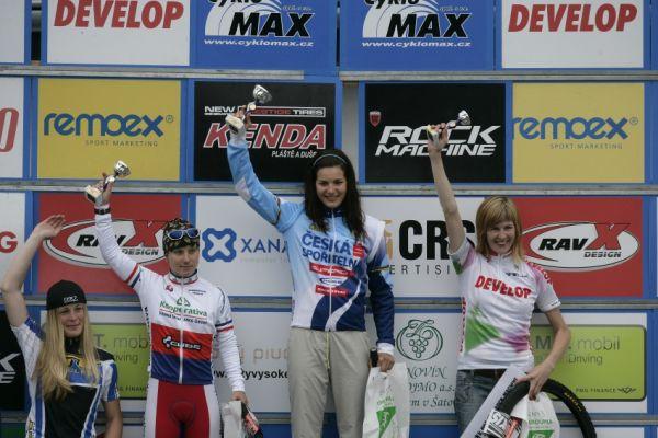 ČP MTB XC #3 2009 - Okrouhlá: ženy - 1. Huříková, 2. Havlíková, 3. Němcová, 4. Veselá