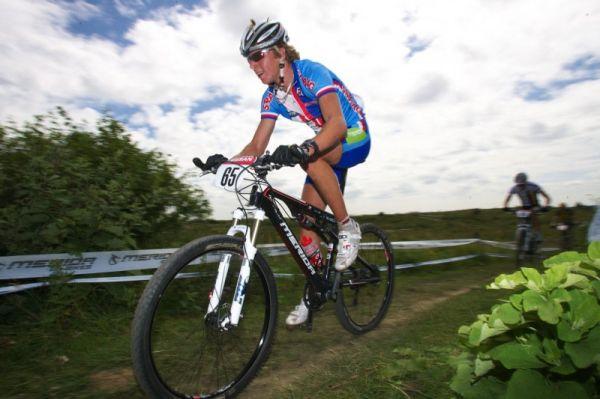 Mistrovství Evropy MTB XC 2009 - Zoetermeer /NED/ - U23: Ondřej Cink na okruhu dlouho nevydžel