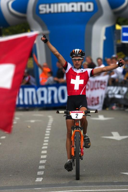 Mistrovství Evropy MTB XC 2009 - Zoetermeer /NED/ - U23: Fabian Giger vítězí