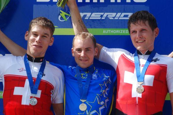 Mistrovství Evropy XC 2009 - Zoetermeer /NED/ - muži a ženy U23: 1. Giger, 2. Litscher, 3. Kaufmann