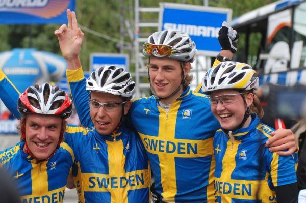 Mistrovství Evropy MTB XC 2009 - Zoetermeer /NED/ - týmové štafety: Švédská štafeta