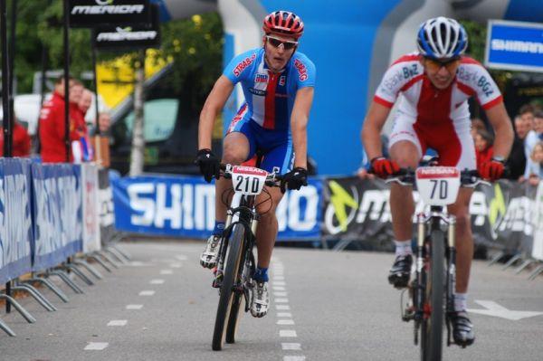 Mistrovství Evropy MTB XC 2009 - Zoetermeer /NED/ - týmové štafety: Jaroslav Kulhavý dojíždí osmý