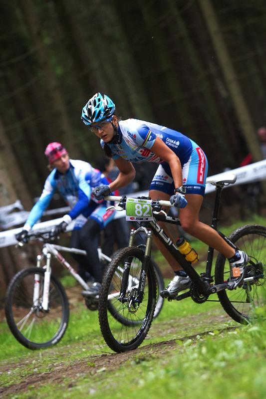 Merida Bike Vysočina 2009 - XCO - Terezu Huříkovou přijel povzbudit i Pavel Zerzan