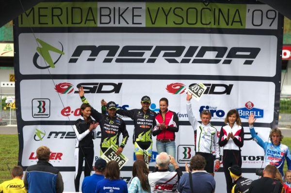 Merida Bike Vysočina 2009 - XCO - 1. Hermida, 2, Näf, 3. Friedl, 4. Spěšný