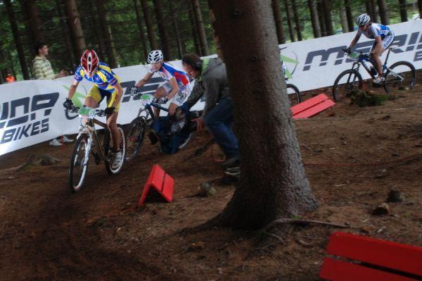 Merida Bike Vysočina 2009 - sprint: Lenka Bulisová a Janka Števková