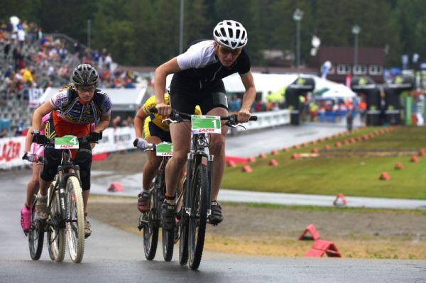 Merida Bike Vysočina 2009 - sprint - Šárka Chmurová neměla v tomto závodě soupeřku, vyhrála všechny rozjížďky