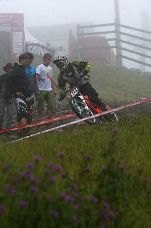 Nissan UCI MTB World Cup 4X/DH #7 - Bromont 1.8. 2009 - Greg Minaar si šel prohlédnout jak se trať změnila s posledními kvalifikanty
