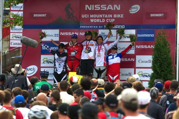 Nissan UCI MTB World Cup 4X/DH #7 - Bromont 1.8. 2009 - 1: Jonier, 2. Pugine, 3. Suemasa, 4. Moseley, 5. Gros