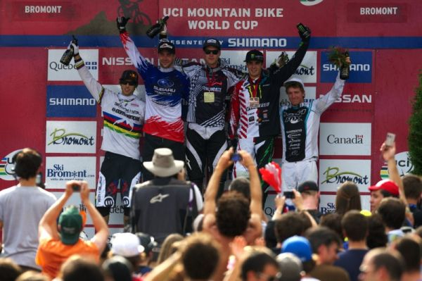 Nissan UCI MTB World Cup 4X/DH #7 - Bromont 1.8. 2009 - 1. Minaar, 2. Barel, 3. Hill, 4. Atherton, 5. Aaron