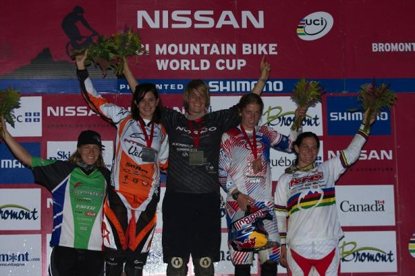 Nissan UCI MTB World Cup 4X/DH #7 - Bromont 1.8. 2009 - 1. Griffith, 2. Beerten, 3. Kintner, 4. Petterson, 5. Buhl