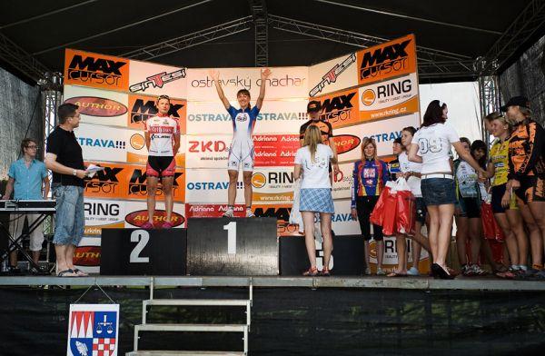 Ostravský Chachar 2009 - VC Ostravy UCI C2 - stupně vítězů a nejlepší ženy