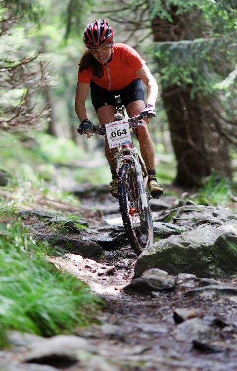 Bikechallenge 2009 - Lídě Damkové to šlo ve sjezdu parádně