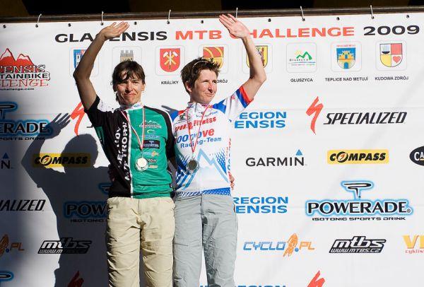 Bikechallenge 2009 - Lída Damková celkově druhá v ženách za Gwendou Rüsing (GER)