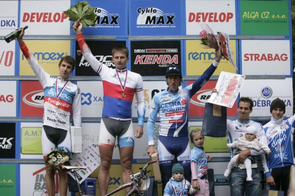 Mistrovství ČR MTB XC 2009 - Karlovy Vary: elite - 1. Boudný, 2. Novák, 3. Spěšný, 4. Štybar, 5. Škarnitzl