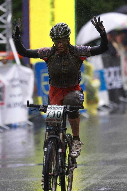 Mistrovství ČR MTB XC 2009 - Karlovy Vary - Markéta Sládková - vítězka juniorek