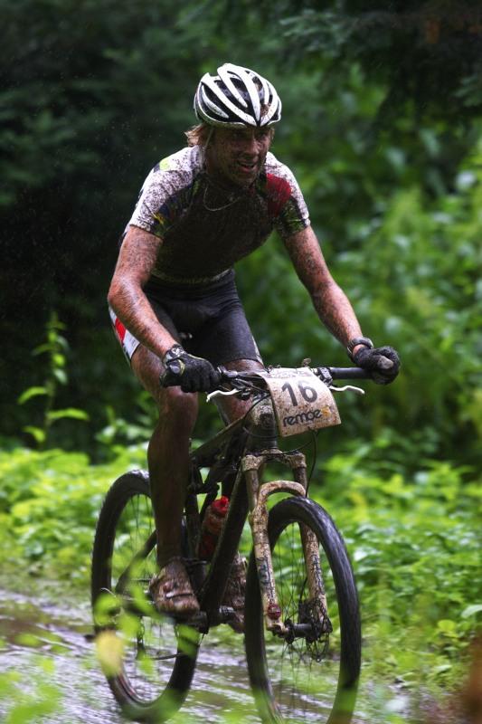 Mistrovství ČR MTB XC 2009 - Karlovy Vary - Ondřej Cink závod opět nedokončil