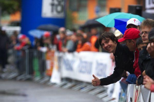 Mistrovství ČR MTB XC 2009 - Karlovy Vary - Radim Kořínek tuší úspěch...