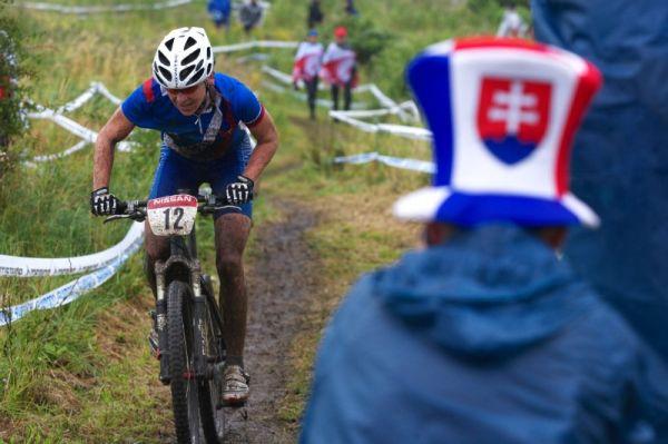 Mistrovství Evropy MTB XC 2009 - Zoetermeer /NED/ - elite: Janka Števková měla kolem trati hodně slovenských fandů, i jim patří velký dík - byli nejvíce slyšet a fandili všem