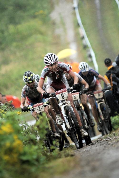 Mistrovství Evropy XC 2009 - Zoetermeer /NED/ - muži & ženy Elite: vedoucí skupina s Wloszczowskou na čele