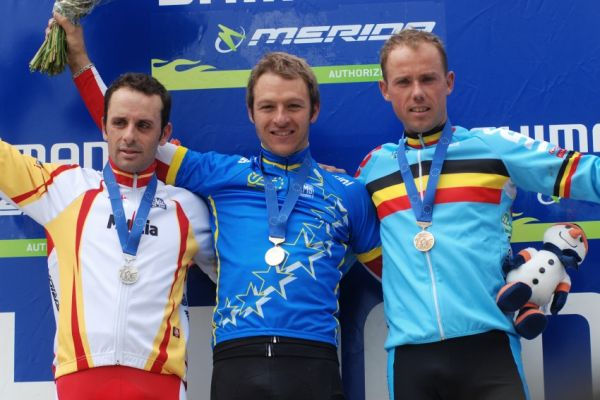 Mistrovství Evropy XC 2009 - Zoetermeer /NED/ - muži & ženy Elite: 1. Naf, 2. Hermida, 3. Nys