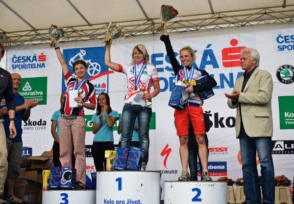KPŽ Praha-Karlštejn 2009 - 1. Hanušová, 2. Černá, 3. Pěničková
