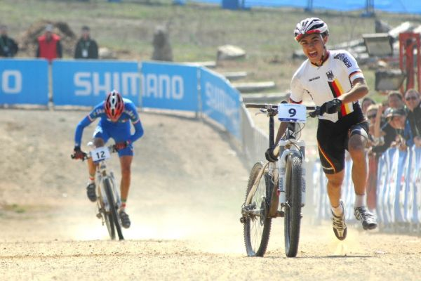 Mistrovství světa MTB XC 2009, Canberra - junioři: spurt a sprint o sedmé místo