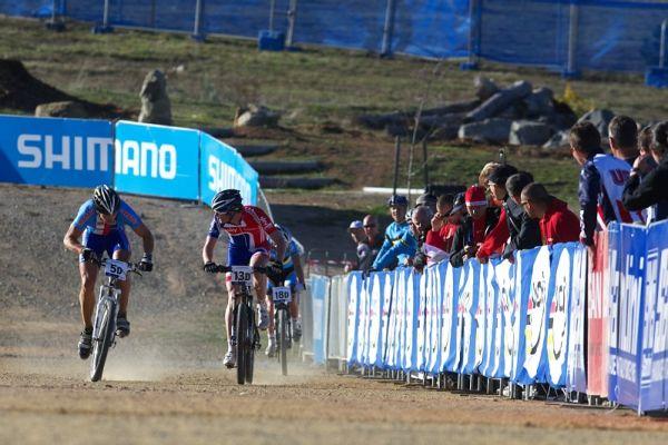 Mistrovství světa MTB XC 2009, Canberra /AUS/ - Lukáš Sáblík bojuje o osmou příčku