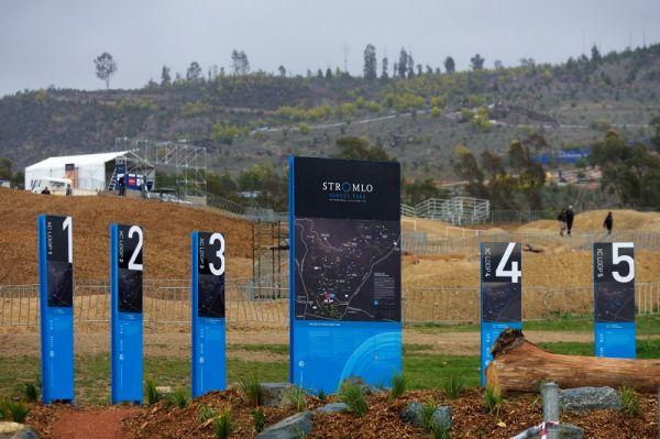 Mistrovství světa MTB 2009, Canberra 1. den - Stromlo Park nabízí značené okruhy