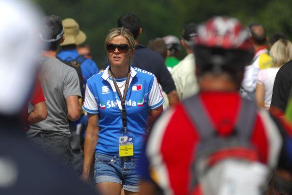 Mistrovství světa v MTB maratonu 2009 - Graz /AUT/: Dvojnásobné olympijské vítězce Paole Pezzo dres stále sluší..