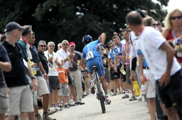 Mistrovství světa v MTB maratonu 2009 - Graz /AUT/: dvojnásobný vítěz Giro d'Italia Gilberto Simoni