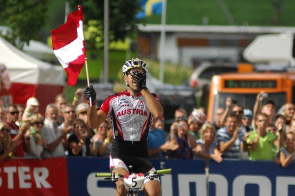 Mistrovství světa v MTB maratonu 2009 - Graz /AUT/: Alban Lakata stříbrný