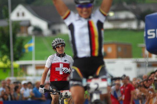Mistrovství světa v MTB maratonu 2009 - Graz /AUT/: Esther Suss na Sabinu Spitz nestačila