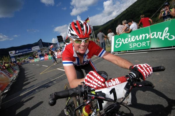 Mistrovství světa v MTB maratonu 2009 - Graz /AUT/: Gunn Rita Dahle v cíli