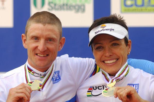 Mistrovství světa v MTB maratonu 2009 - Graz /AUT/: Roel Paulissen a Sabine Spitz