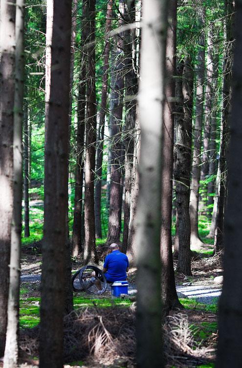 KPŽ AM bikemaraton ČS Karlovy Vary 2009 - Jirka Ženíšek čeká na svoje svěřence...