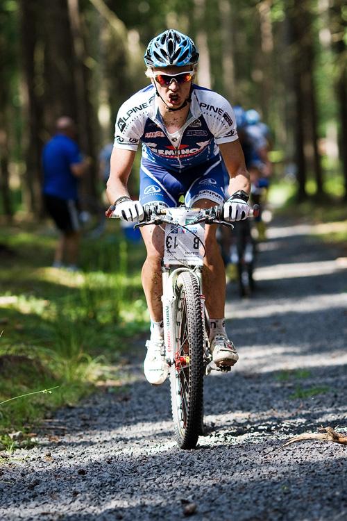 KPŽ AM bikemaraton ČS Karlovy Vary 2009 - poslední atak Jakuba Šilara - hop nebo trop...