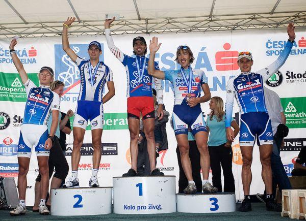 KPŽ AM bikemaraton ČS Karlovy Vary 2009 - 50 km muži: 1. Novotný 2. J. Fojtík 3. Spěšný 4. Šilar 5. Ježek